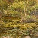 "Nikolay Mikushkin: ""Forest's Pond"" Best New Artist to Plein Air Easton -2014 ($500)"