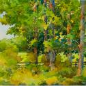 "David R. Csont: ""Oxford Road Tree Line"" Best Watercolor, 2021"