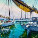 "Stephen J. Griffin: ""Sunlit Harbor"""