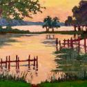 "Laurie Hendricks: ""Dawn at Peachblossom Cove"""