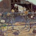 """Jill Carver: """"Empty Boat Stands"""" Artists' Choice Award, Honorable Mention"""