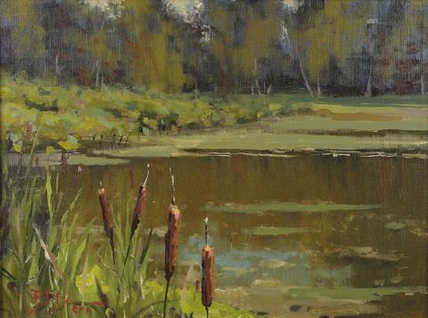 Roger Dale Brown, OPA: ̏Cattails and Lillies˝. Hudson